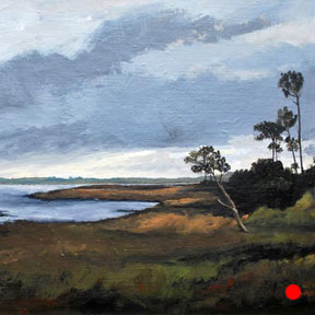 photo of Dutton Island acrylic painting