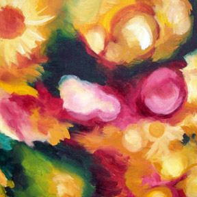 photo of yellow and pink color painting
