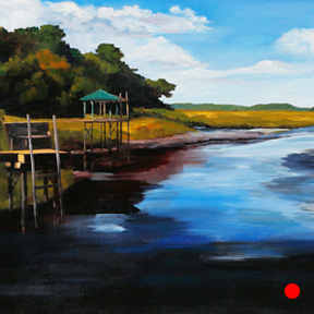 photo of Starratt Creek acrylic painting
