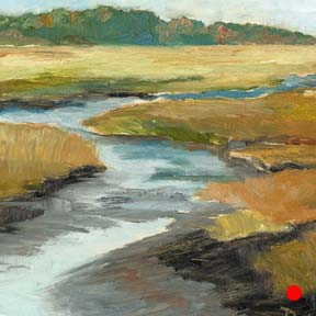 photo of Starratt Creek plein air oil painting